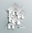 Vector 3d paper house / home modern design