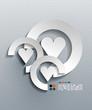 Vector 3d paper heart modern design