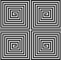 Spiral square texture. Seamless pattern.