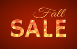 Fall Sale sign for autumn