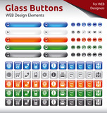 Glass Buttons - WEB Design Elements