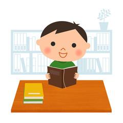 読書する男の子