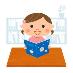 読書する女の子