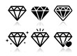 Diamond vector icons set - 54571964