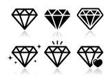 Diamond vector icons set - 54571964