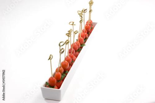 palline di anguria e pomodorini