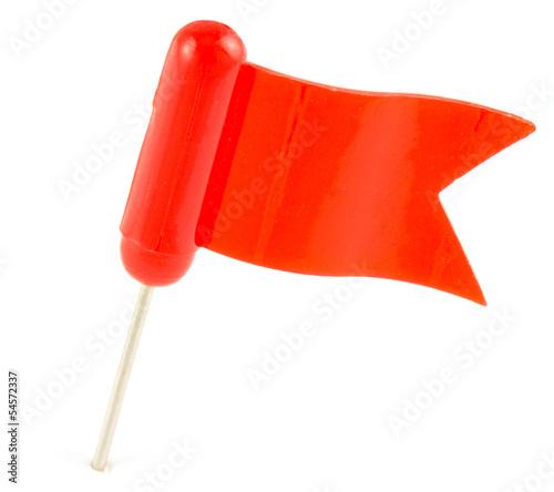 épingle de signalisation drapeau rouge