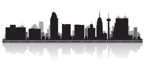 San Antonio city skyline silhouette