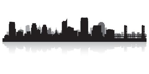 Sacramento city skyline silhouette