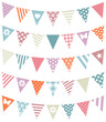 5 Seamless Buntings Mix Pattern Retro