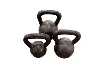 Isolated kettlebell weights