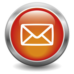 E-mail glossy icon red