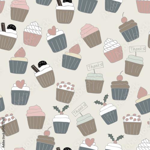 Seamless Cupcake Background © KANDA EUATHAM
