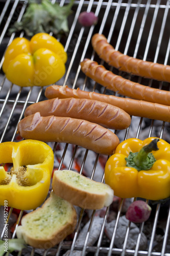 Fresh sausage and hot dogs
