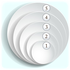 Paper round icons with numbers