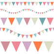5 Seamless Buntings Retro