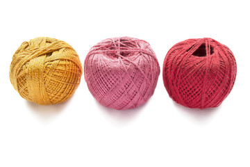Three balls of yarn