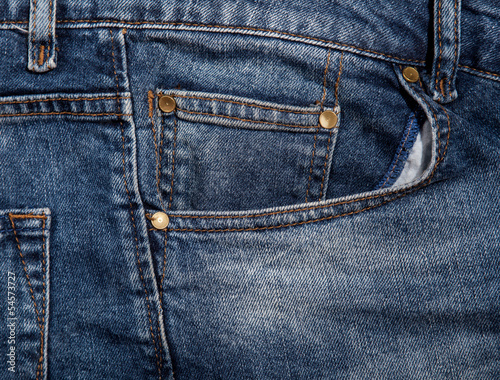 Jeans pocket for background