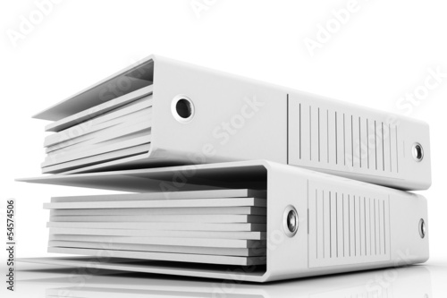 Isolated folders for papers on a white background © Bilan 3D