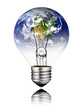 Lightbulb switched OFF - World Globe North America