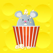 mouse in cheese popcorn bucket
