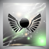 Abstract background with wings.