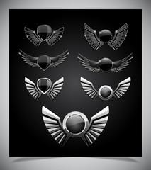 Set of emblemes