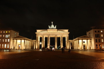 famous Berlin gate in the evening, Germany