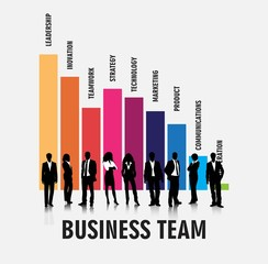 Business people team evaluation vector