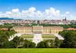 Leinwandbild Motiv Beautiful view of Schloss Schönbrunn in Vienna, Austria