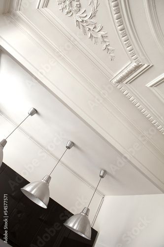 Maison, appartement, habitat, immobilier, salon, plafond