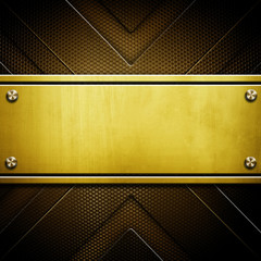 golden plate background
