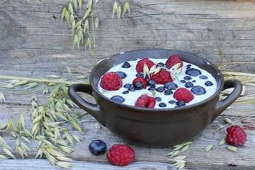 Creamy and healthy oatmeal