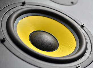Audio speaker closeup