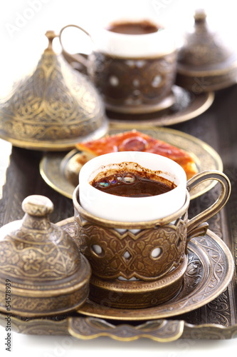 Turkish coffee close-up.