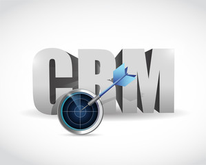 crm target and solutions concept illustration