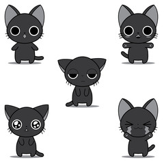 Monochrome chibi kitty