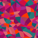 Bright colors mosaic seamless pattern, vector illustration looks