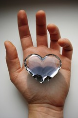 Clean and pure heart and love in my hand belong to you