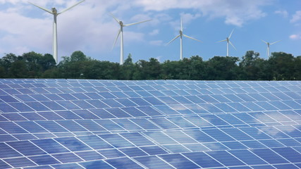 Renewable energy. Timelapse