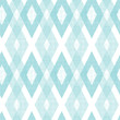 Vector pastel blue fabric ikat diamond seamless pattern - 54581510