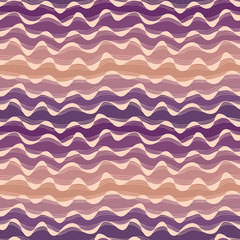 Seamless abstract hand-drawn waves pattern, wavy background. Sea