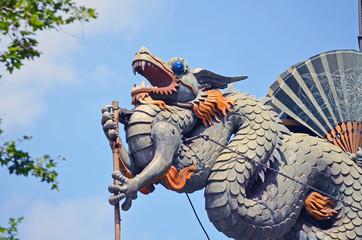 Dragón junto al Mercat de la Boqueria. Barcelona