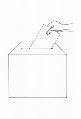 Wahl und Wahlurne