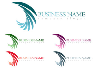 Business logo wing design