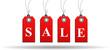 Rote Sale Schilder