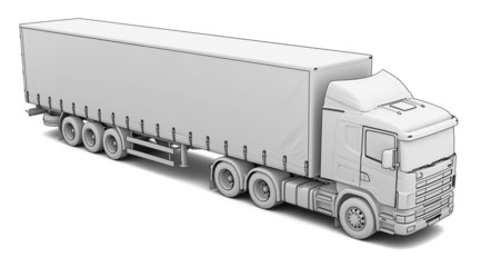 Sketch white truck