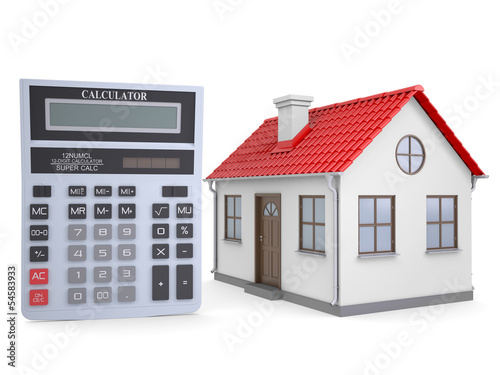 Small house and calculator