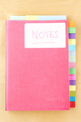 Notebook with Blank Tab Dividers