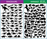 Dinosaurs and animals